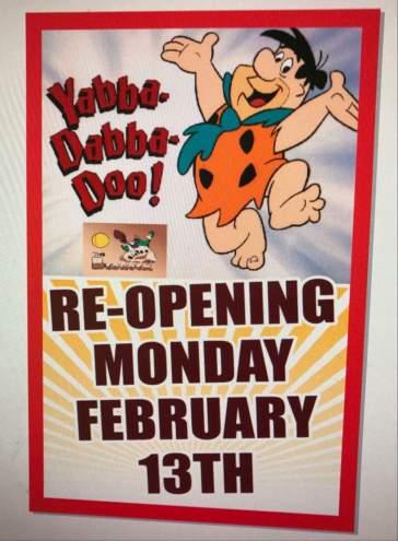 """Bedrock Bistro"" is a Flinstone's themed, all-day breakfast restaurant in HAMONT"